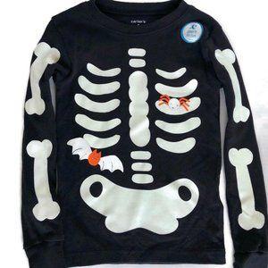 Carter's Skeleton Glow In the Dark Boys PJs NWT 5